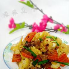 拌饭酱腊肉炒菜花