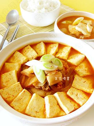 韩国泡菜锅的做法