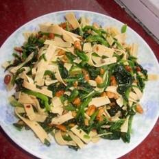凉拌菠菜干豆腐