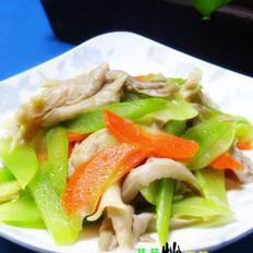 莴苣炒平菇