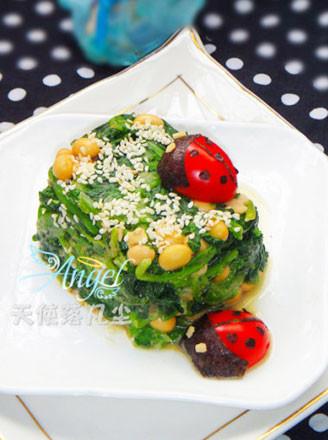 瓢虫麻酱菠菜墩的做法