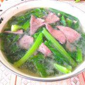 猪肝芥菜汤的做法大全
