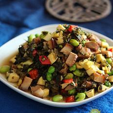 酱肉笋丁炒雪菜