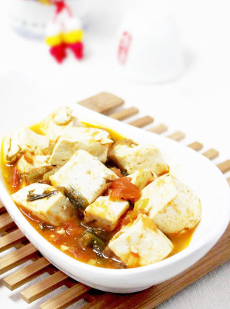 番茄雪菜豆腐的做法