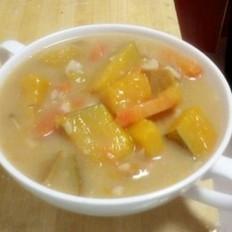 南瓜胡萝卜花生米面粥