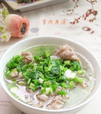羊肉片汤的做法