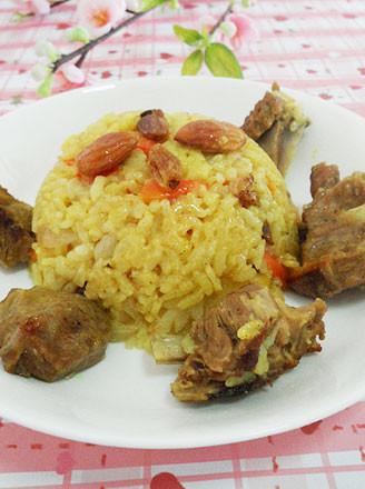 新疆羊肉手抓饭的做法