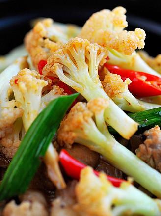 干锅花菜的做法