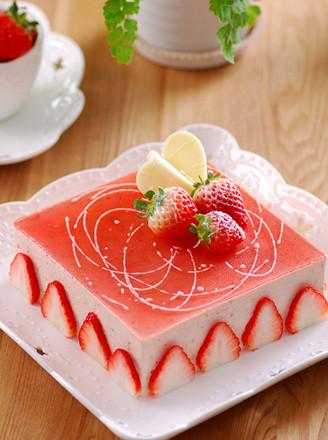 草莓凍芝士的做法