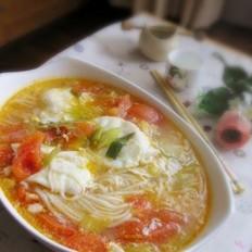 炝锅西红柿鸡蛋面