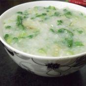 瑶柱虾米蔬菜粥