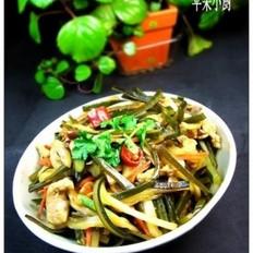 韩式豆酱炒海带丝白菜