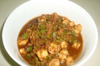长豆角虾仁肉酱的做法