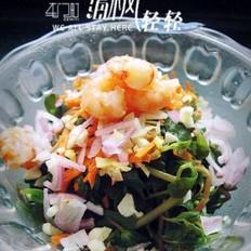 虾仁炝拌蚂蚱菜的做法
