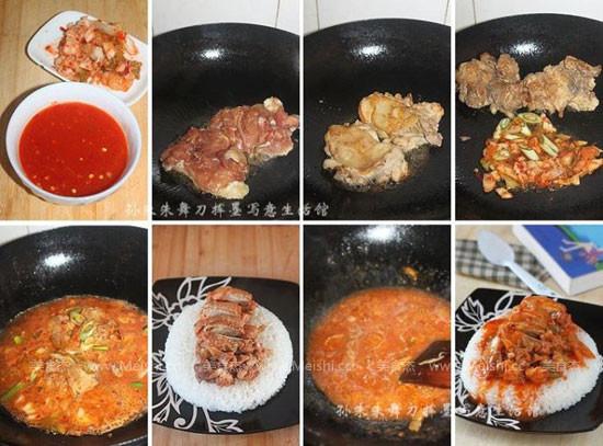 泡菜鸡肉饭的家常做法