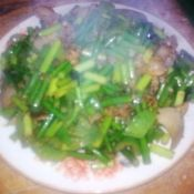 蒜苔炒肉片