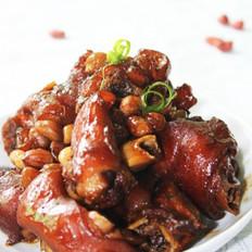姜葱花生焖猪蹄