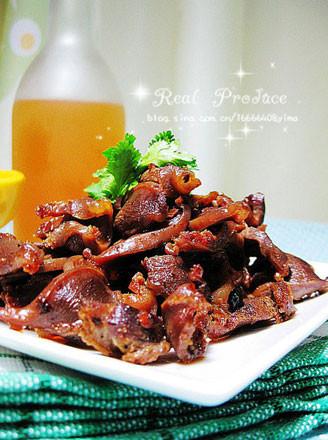 麻油豆豉爆雞胗的做法