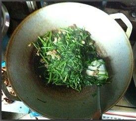 空心菜炒肉的简单做法