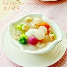 鲜虾五彩萝卜汤
