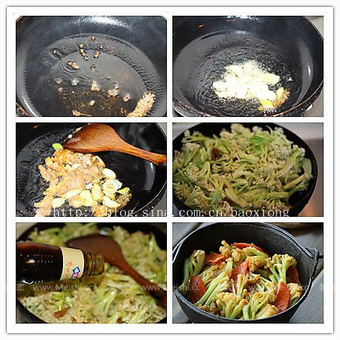 干锅菜花的做法图解