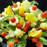 另类插花:水果花篮
