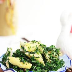 春笋炒荠菜