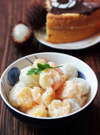 果球虾仁沙拉的做法