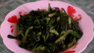 蒜泥蒿菜的做法