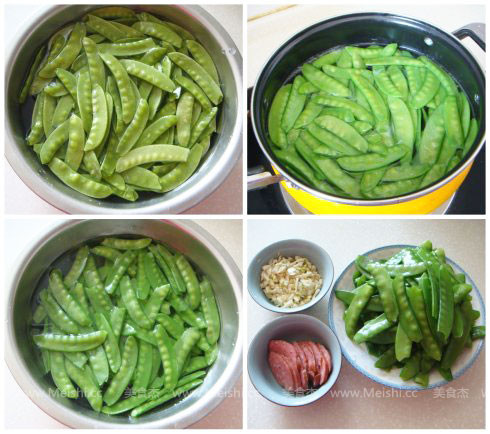 蒜蓉荷兰豆的做法大全
