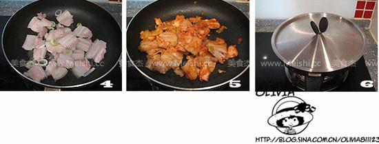 辣白菜炒五花肉的做法图解