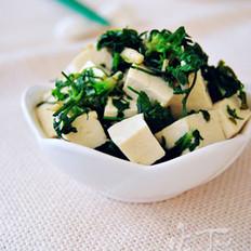 荠菜拌豆腐