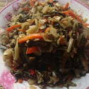 胡萝卜丝腌菜美食菜谱杰好处v美食做法吃金针菇男人图片
