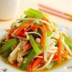 凉拌芹菜金针菇