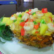 虾仁菠萝船