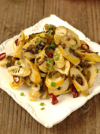 雪菜炒筍的做法