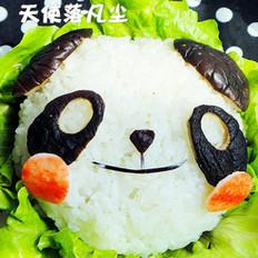 鱼香茄子熊猫盖饭
