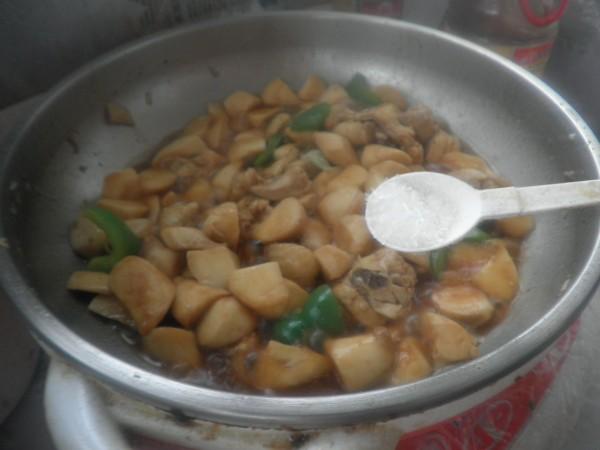 杏鲍菇烧鸡块怎样炒