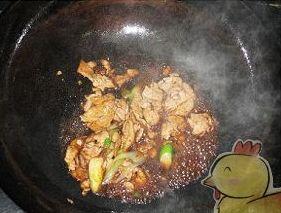 肉片炒百合的简单做法