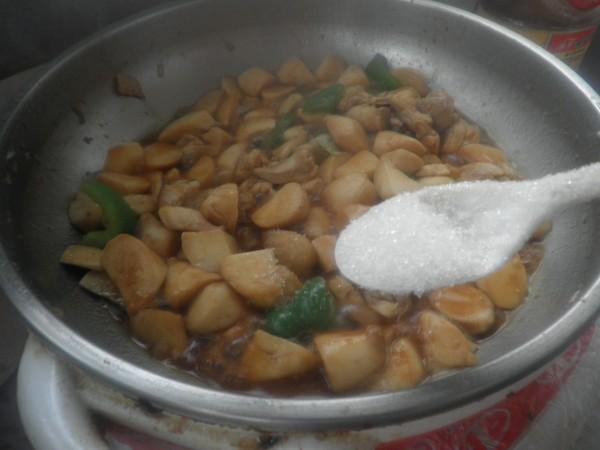 杏鲍菇烧鸡块怎样做
