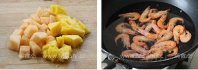菠萝油条虾的做法大全