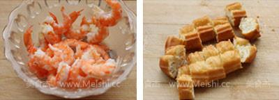 菠萝油条虾的做法图解