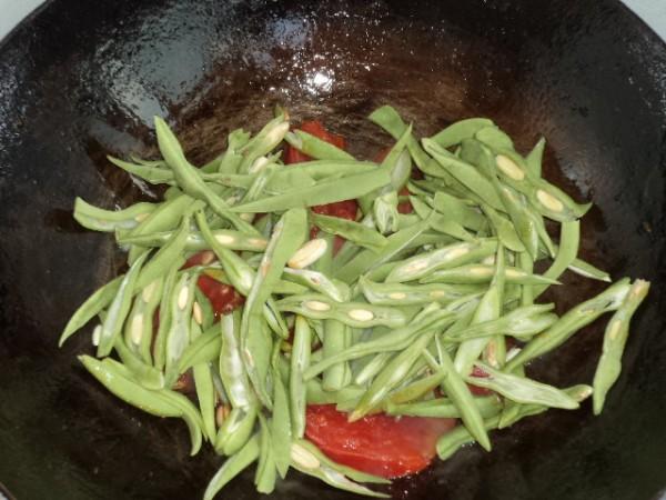 番茄炒双豆怎么吃