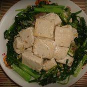 小白菜烧豆腐块