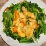 小白菜炒鸡蛋