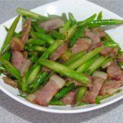 培根炒蘆筍