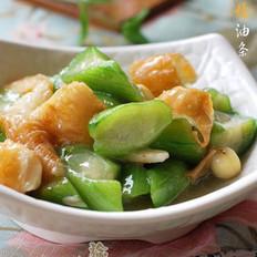 丝瓜烩油条