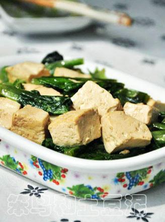 油麦菜烧豆腐的做法