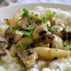 鸡肉蘑菇菜饭