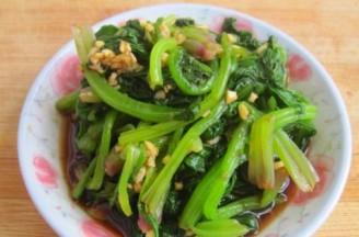 涼拌蒜蓉菠菜的做法